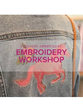 Modern Domestic Everyday Embroidery Workshop: Embroider on Finished Garments, Friday May 11, 12 - 4 pm