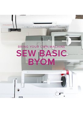 Sew Basic, BYOM (Bring your own machine!) Thursday, May 17, 2-4:30 pm