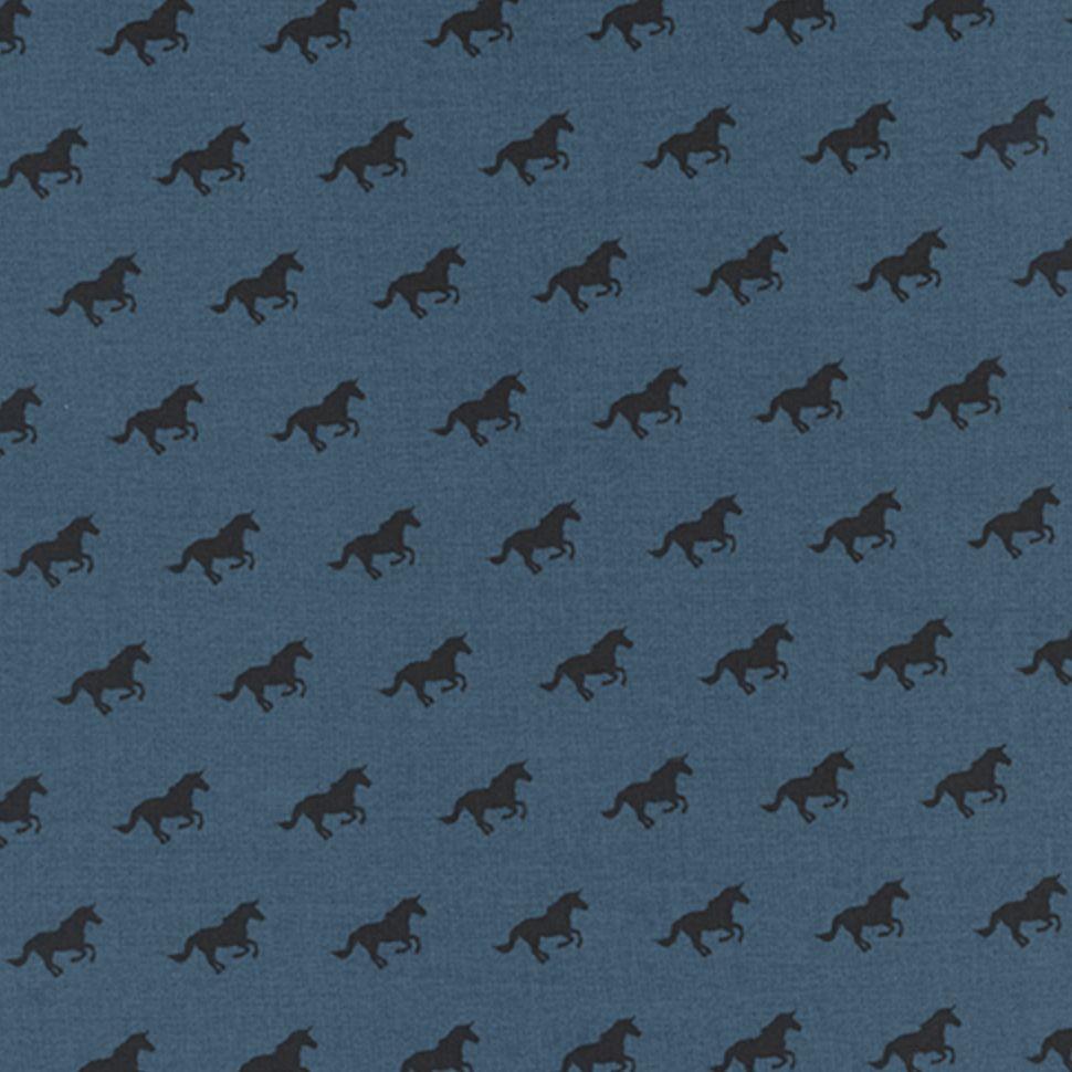 Cotton + Steel #Lawnquilt by Cotton + Steel Unicorn Race Denim