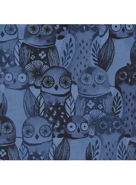 Cotton + Steel Eclipse by Cotton + Steel Wise Owls Blue