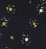 Cotton + Steel Eclipse by Cotton + Steel Sun, Moon, Stars Black