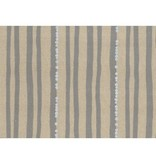 Kokka Echino Stripe Grey Metallic Cotton/Linen Canvas