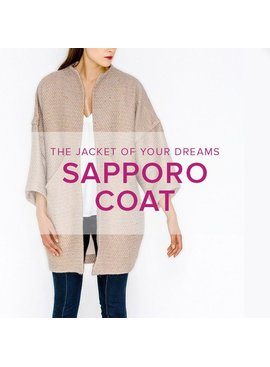 Erica Horton CLASS FULL Sapporo Coat, Thursdays, August 30, September 6 & 13, 6 - 8:30 pm