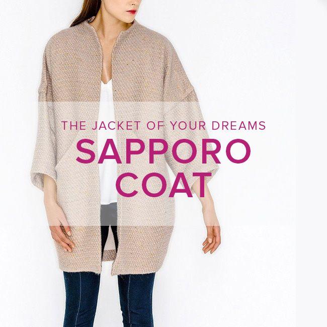 Erica Horton CLASS FULL Sapporo Coat, Thursdays, August 30, September 6 & 13, 6 - 8:30 pm