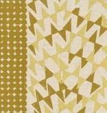 EE Schenck Fabric Caravan Cotton/Linen Canvas: Ibara Gold Metallic