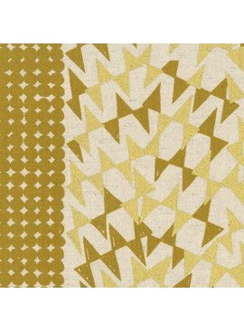 EE Schenck Fabric Caravan Cotton/Linen Canvas: Ibara Gold Metallic