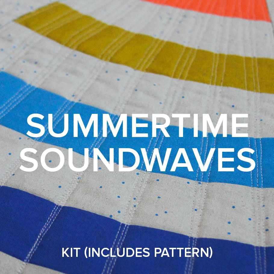 "Modern Domestic PREORDER ""Summertime Soundwaves!"" 2018 Row by Row Kit"