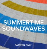 """Modern Domestic """"Summertime Soundwaves"""" 2018 Row By Row Pattern"""