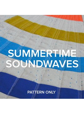 "Modern Domestic ""Summertime Soundwaves"" 2018 Row By Row Pattern"