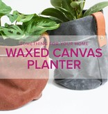 Rebekah Fink Learn to Sew: Waxed Canvas Planter, Sunday, August 26, 10am - 1pm