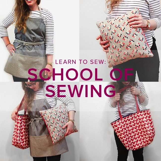 Karin Dejan CLASS IN SESSION Learn to Sew: School of Sewing, Mondays September 10, 17, 24 & October 1, 6 - 8:30 pm