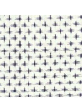 Textile Creations Dakota Ikat Cream Navy Star