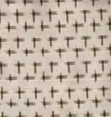 Textile Creations Dakota Ikat Stars Khaki Cream