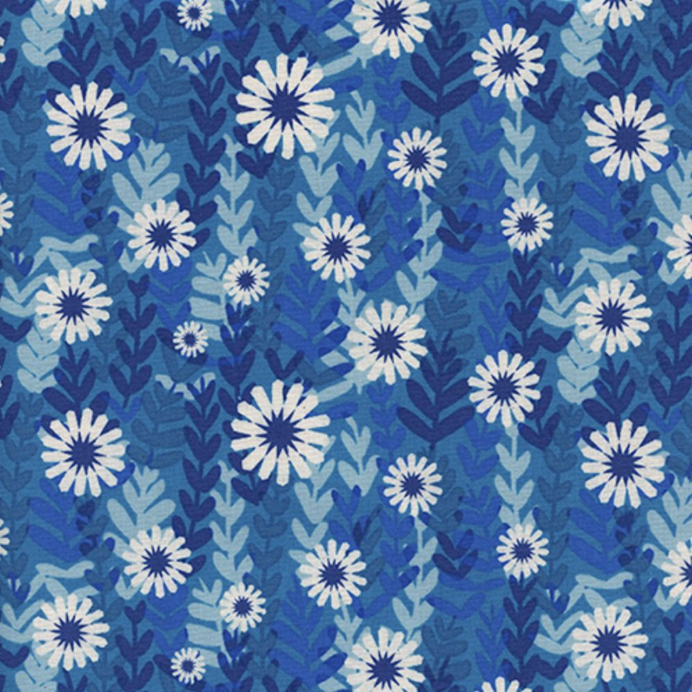 Cotton + Steel Freshly Picked by Cotton + Steel Daises Blue