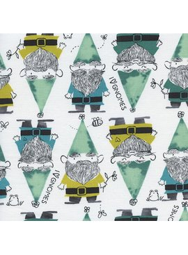Cotton + Steel Front Yard by Sarah Watts Gnomes Green