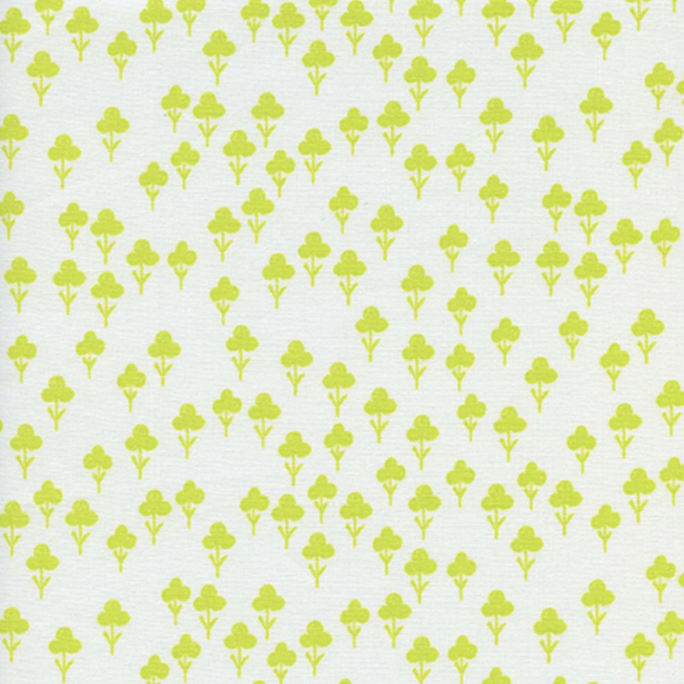 Cotton + Steel Front Yard by Sarah Watts Clovers Yellow