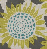 Cotton + Steel Front Yard by Sarah Watts Sunflowers Yellow Canvas