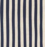Robert Kaufman Sevenberry Canvas Natural Stripe Navy