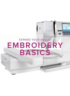 Modern Domestic MyBERNINA: Machine Embroidery Basics, Sunday September 2, 11 am - 1 pm