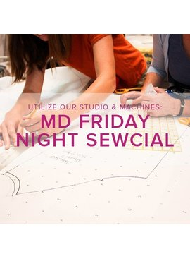 Modern Domestic Friday Night Sewcial: Friday, August 24, 5-8 pm