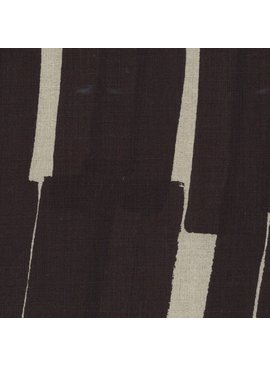 EE Schenck Nani Iro Linen Canvas: Grace Stripes Black 100% Linen