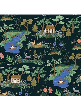 Cotton + Steel English Garden by Cotton + Steel/Rifle Paper Co. Garden Toile Dark