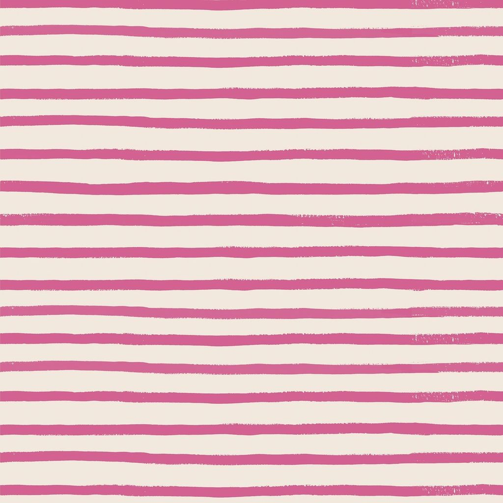 Cotton + Steel English Garden by Cotton + Steel/Rifle Paper Co. Stripes Pink