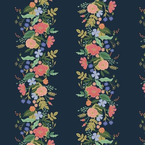 Cotton + Steel English Garden by Cotton + Steel/Rifle Paper Co. Vines Dark