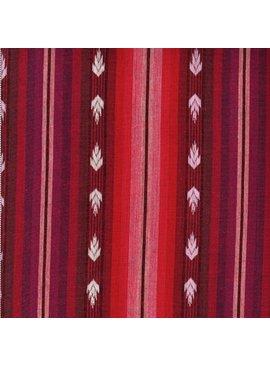Textile Creations Arrowhead Dobby Flame Fuschia Cream