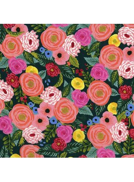 Cotton + Steel English Garden Rayon by Cotton + Steel Juliet Rose Navy
