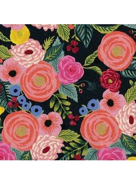 Cotton + Steel English Garden Canvas by Cotton + Steel Juliet Rose Navy