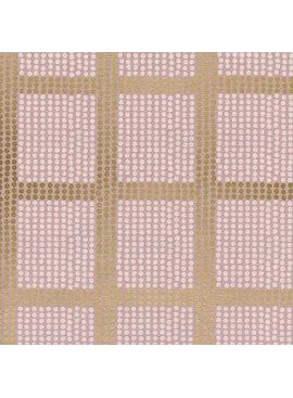 Cotton + Steel Imagined Landscapes by Jen Hewett Avenues Rose Gold Metallic
