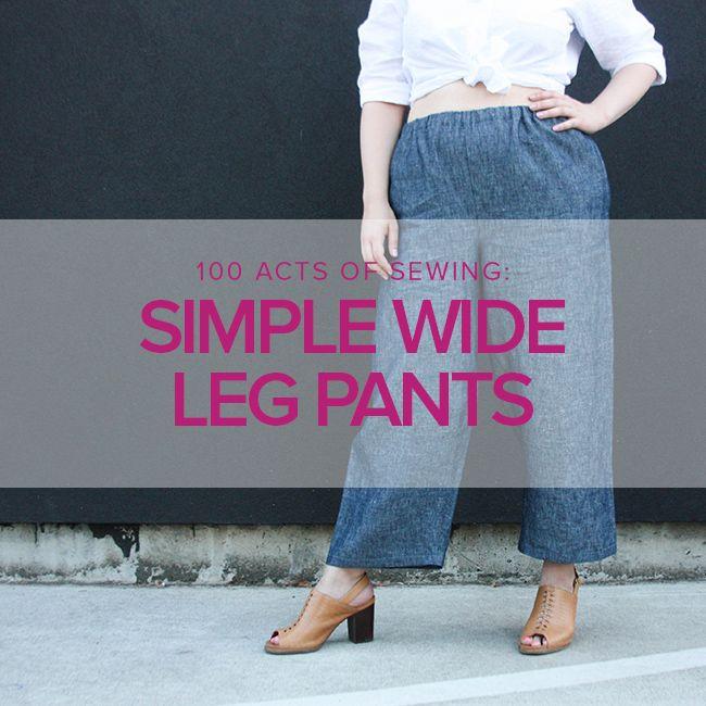 Jeanine Gaitan Simple Wide Leg Pants, Tuesdays, October 2 & 9, 6 -9pm