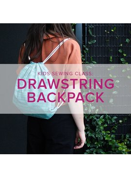 Mimi Loughney Kids After-School Sewing Class: Lined Drawstring Backpack, Alberta St. Store, Tuesday and Wednesday, October 23 & 24, 3:30 - 5:30 pm