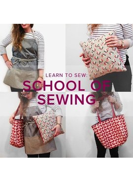 Karin Dejan Learn to Sew: School of Sewing, Mondays, November 19, 26, December 3, & 10, 6-8:30 pm