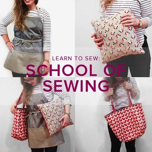 Karin Dejan Learn to Sew: School of Sewing, Mondays, November 19, 26, December 3, & 10, 6-8:30 pm