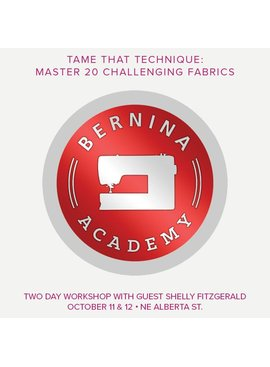 Modern Domestic BERNINA Academy NE Alberta St. Location, Thursday & Friday, October 11 & 12, 10 am - 5 pm with an hour lunch break