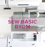 Sew Basic, BYOM (Bring your own machine!) Thursday, October 18, 6:30 - 9 pm