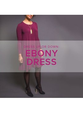 Karin Dejan CLASS IN SESSION Ebony Dress, Alberta St. Store, Sundays, November 25, December 2 & 9, 6-9pm