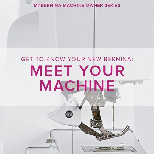 Modern Domestic MyBERNINA: Class #1, Meet Your Machine, Sunday, November 4, 11 am - 1 pm
