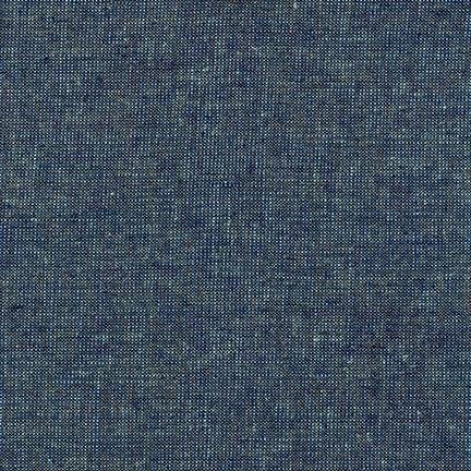 Robert Kaufman Essex Yarn Dyed Metallic Ocean