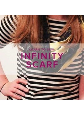 Karin Dejan Learn to Sew ALL AGES: Infinity Scarf, Lake Oswego Store, Sunday, November 11, 1-4 pm