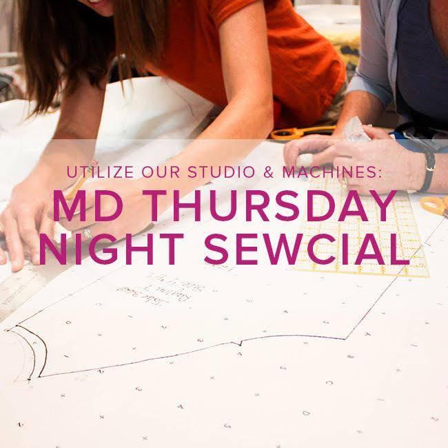 Modern Domestic Thursday Night Sewcial, Lake Oswego Store, Thursday, November 15, 5-8 pm