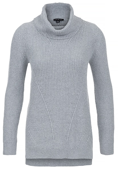 Tribal Tribal Long Sleeve Cowl Neck Sweater