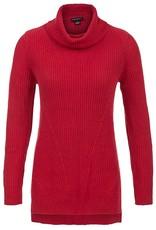 Tribal Tribal Cowl Neck Tunic Sweater