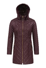 Tribal Tribal Quilted Coat with Detachable Hood