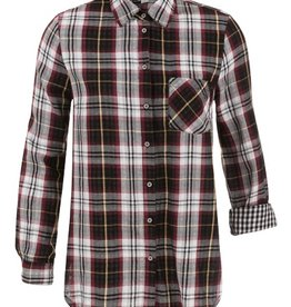 Tribal Tribal Plaid Shirt Print Back