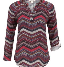 Tribal Tribal Long Sleeve Blouse