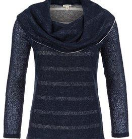 Tribal Tribal Long Sleeve Shawl Collar Sweater