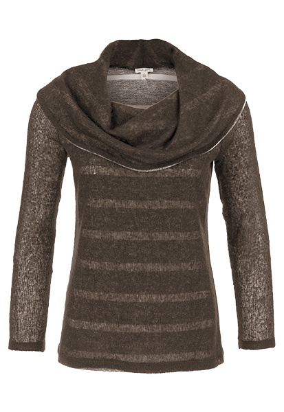 Tribal Tribal Long Sleeve Shawl Collar Sweater